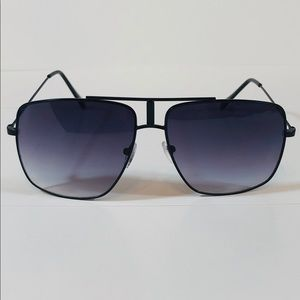 Other - Black Large Square Aviator Sunglasses